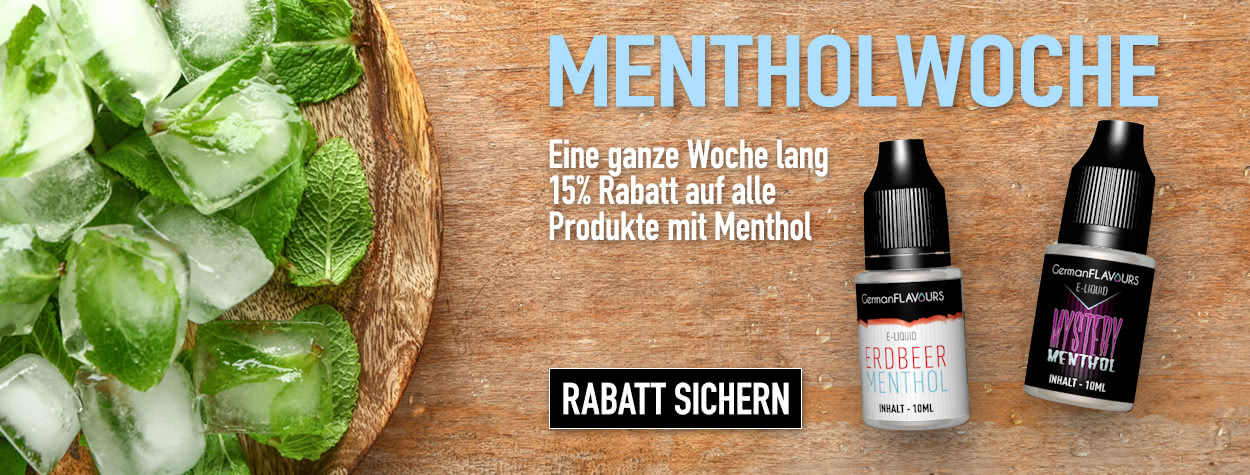 Die GermanFLAVOURS Mentholwoche...
